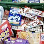Produkty spożywcze zebrane podczas zbiórki żywności